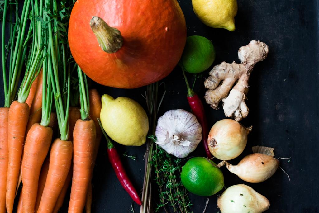Herbstküche: Im Ofen geröstete Kürbiscremesuppe