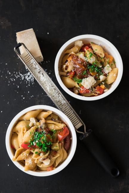 One Pot Pasta mit buntem Sommergemüse-3