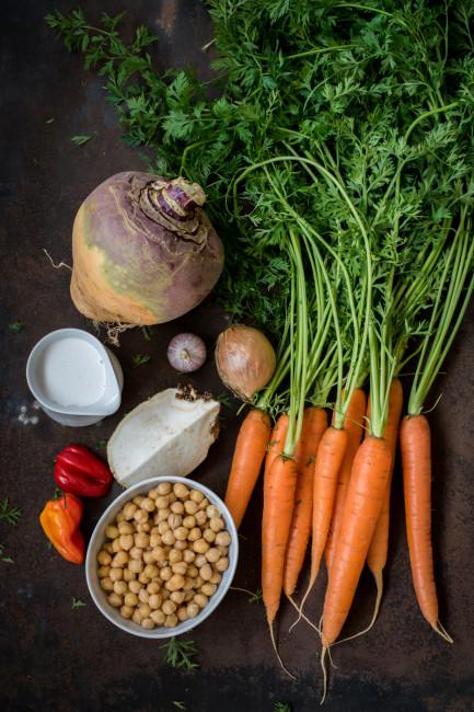 Steckrübencurry mit Kokosmilch
