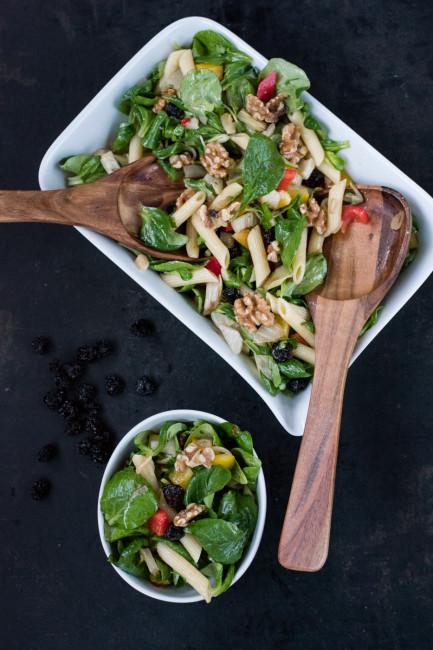 Wintermenü Salat als Vorspeise