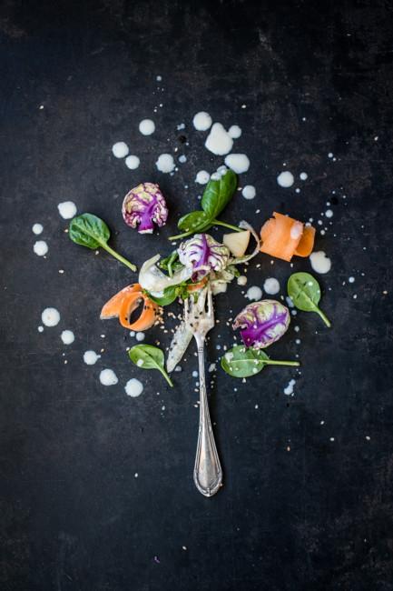 Foodfotografie Wintersalat mit Dressing