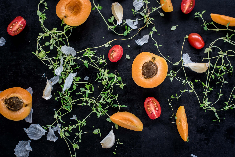 Aprikosen Tomaten Haehnchen
