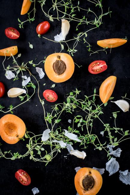 Sommerküche: Aprikosen und Tomaten-Soße für Geflügel