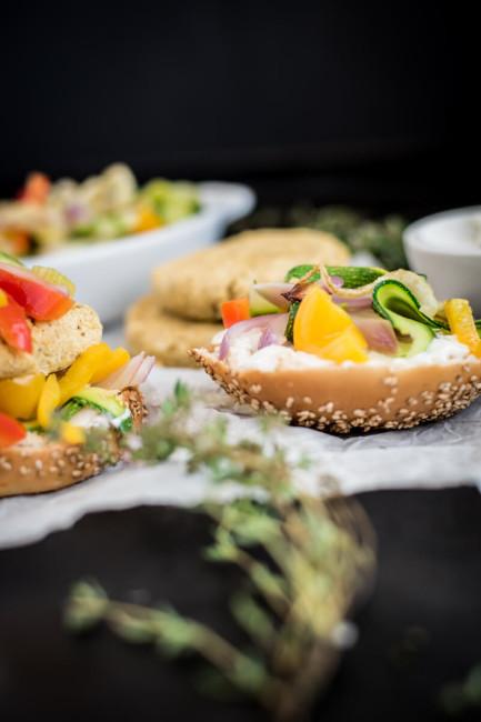 Grillgemüse für den vegetarischen Burger