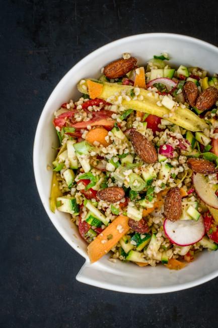Salattopping: Rauchmandeln
