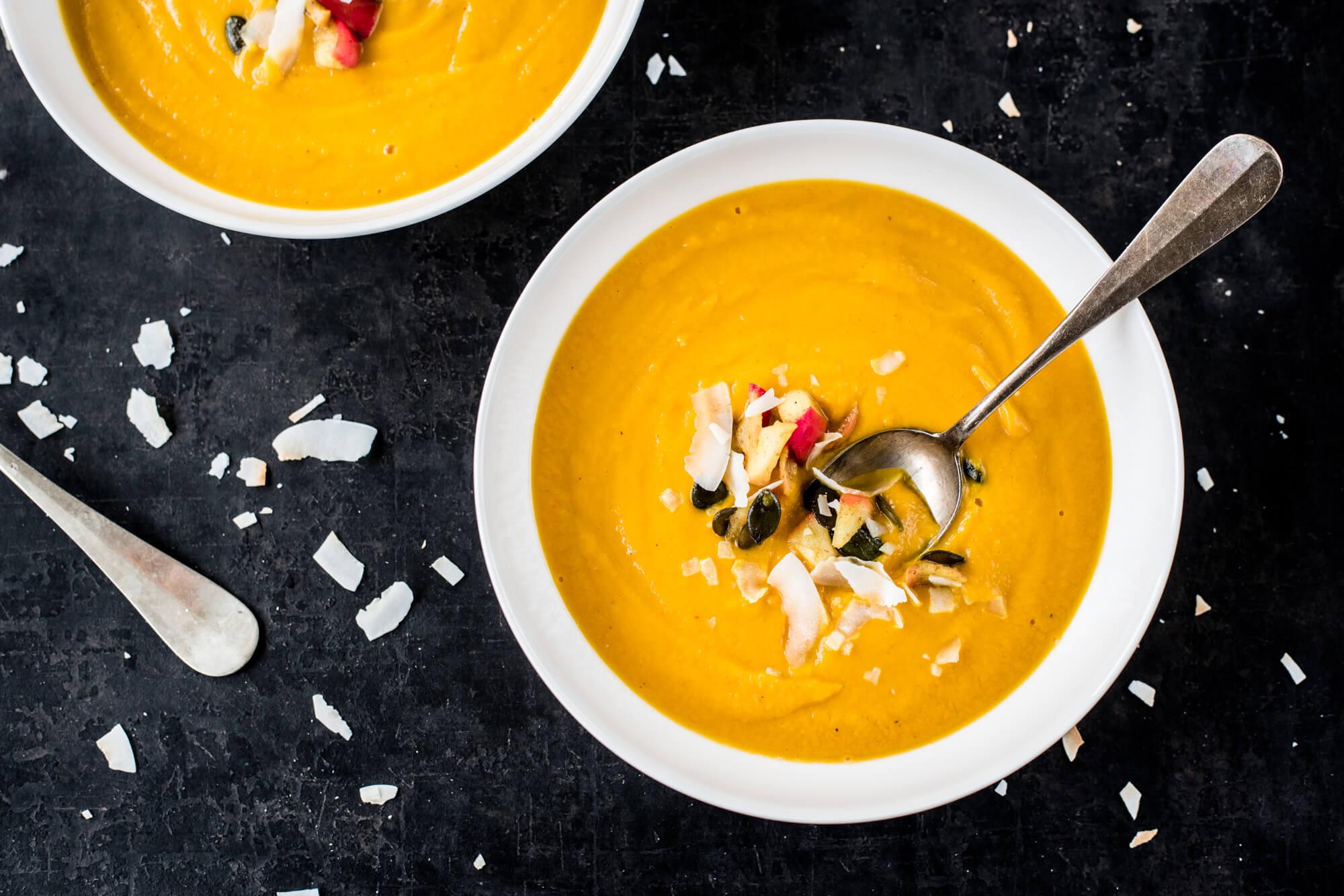 Kokos-Curry-Suppe für das Weihnachtsmenü - Festtagsküche