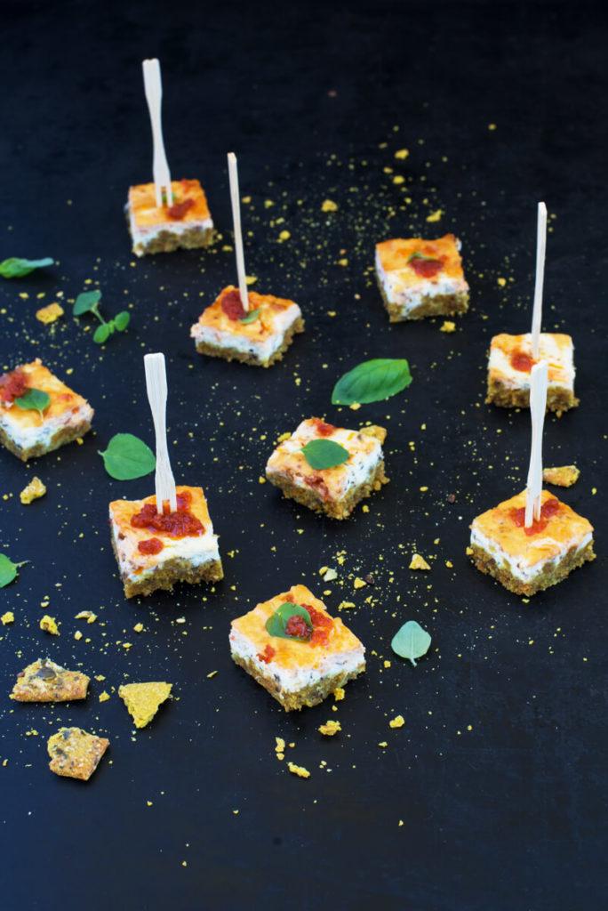 Herzhafter Käsekuchen: Cheesecake pikant