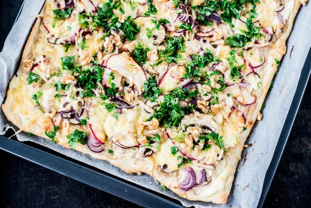 Weiße Pizza // Rezept für Winterpizza