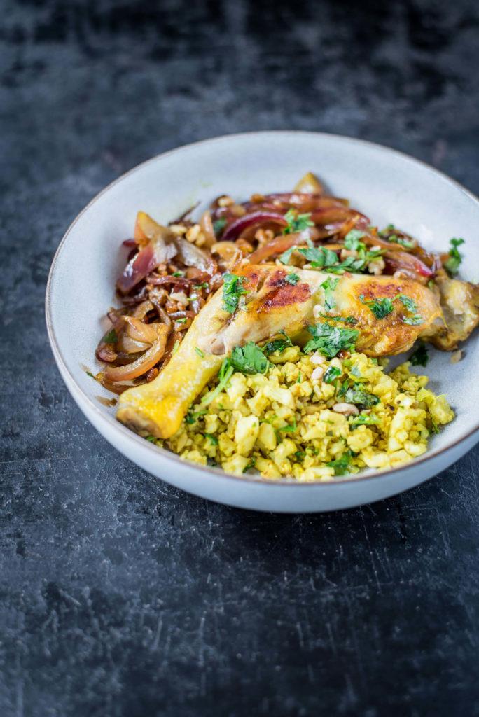 Persisch kochen: Low Carb Reis mit Kräutern