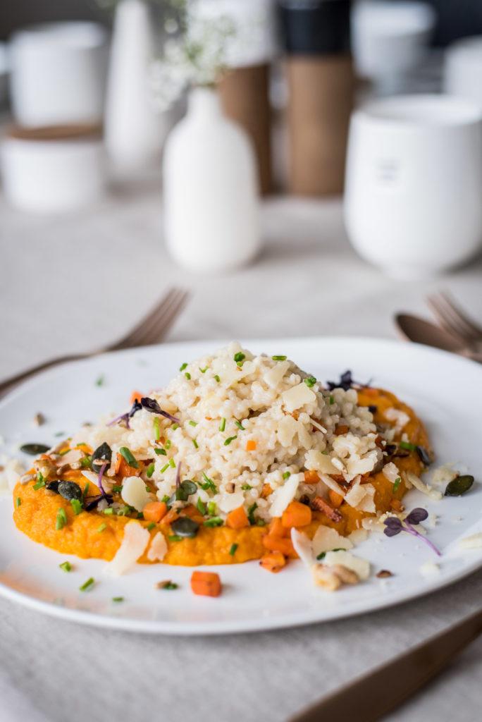 Ostermenü vegetarisch Graupen-Risotto
